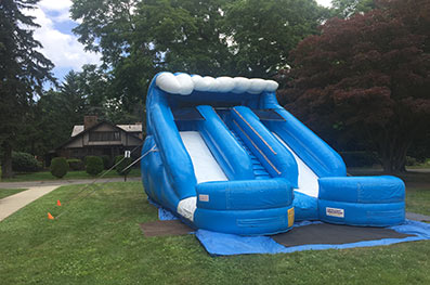 double splash slide rental