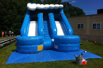 double splash slide for rent