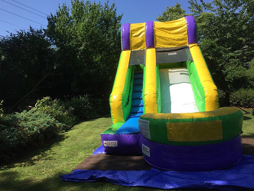little splash water slide for rent