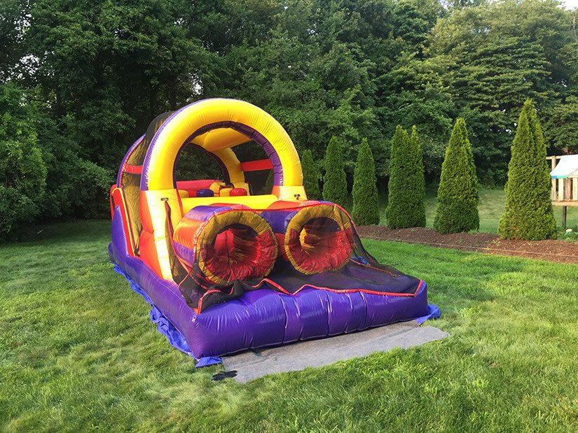 obstacle course bounce house for rent