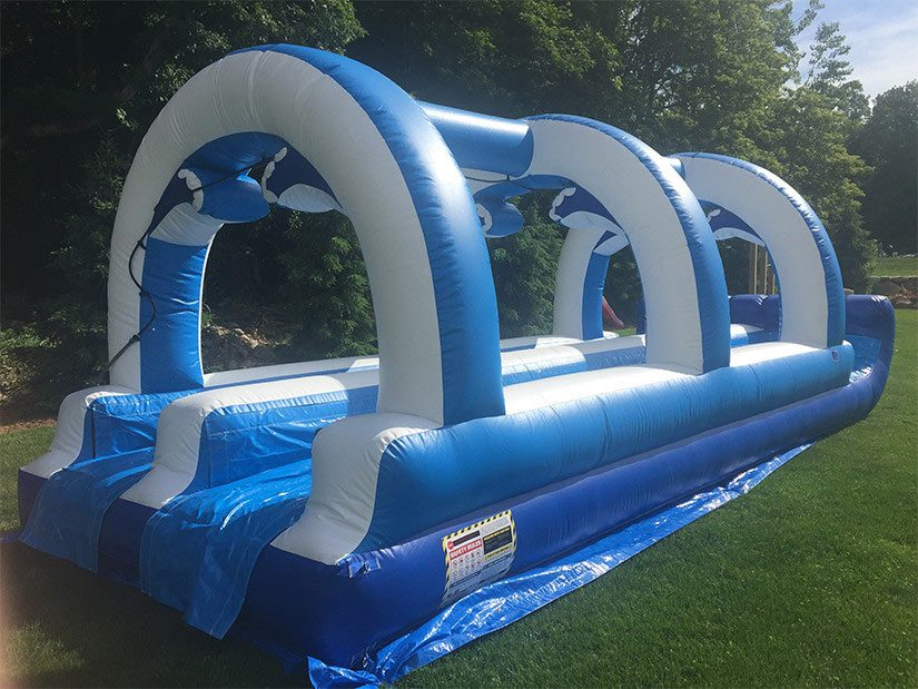 double lane slip and slide for rent
