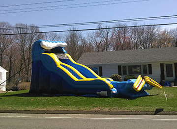 wipe out water slide rental